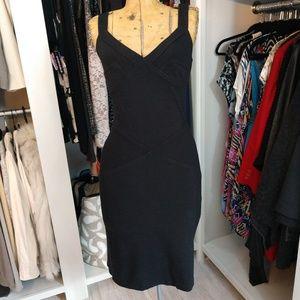 Moda International V Neck Little Black Dress LBD